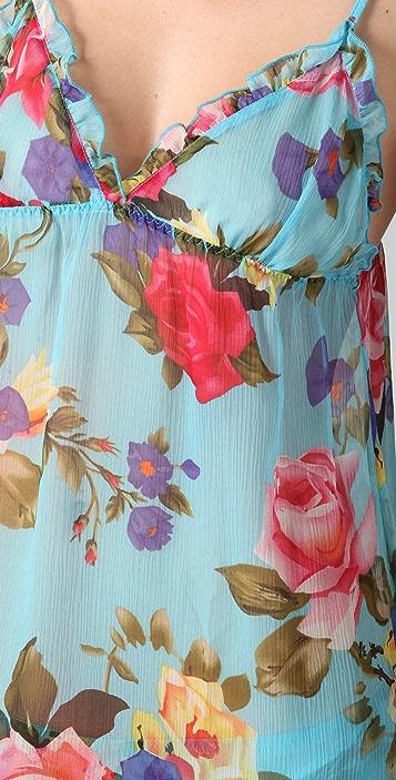 La Fee Verte Silk Floral Chemise