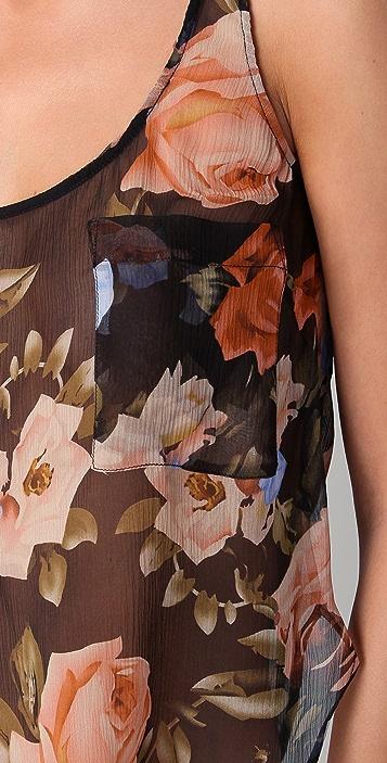 La Fee Verte Silk Floral Tank