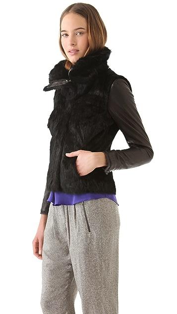 La Fee Verte Rabbit Fur Jacket