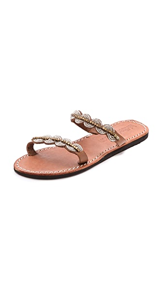 Laidback London Aria Beaded Sandals