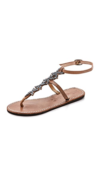 Laidback London Rain Beaded Star Sandals