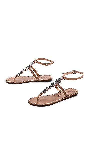 Laidback London Rain Beaded Star Sandals