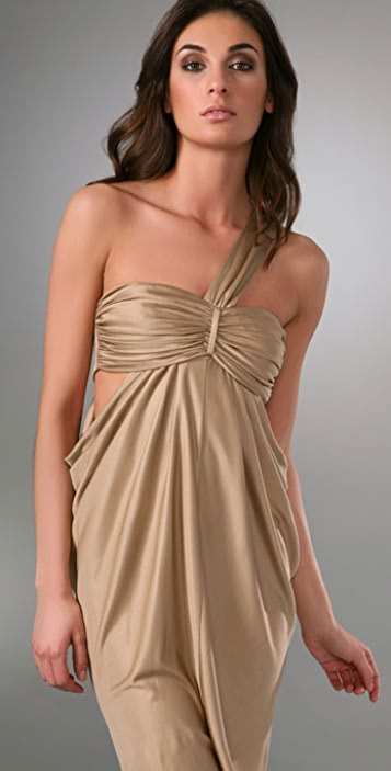 Laila Azhar One Shoulder Drape Dress