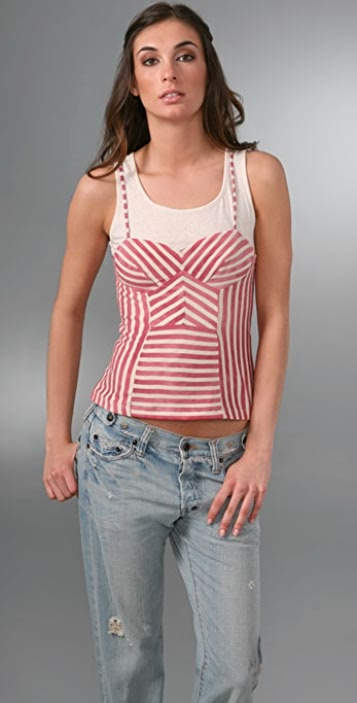L.A.M.B. Layered Bustier Top