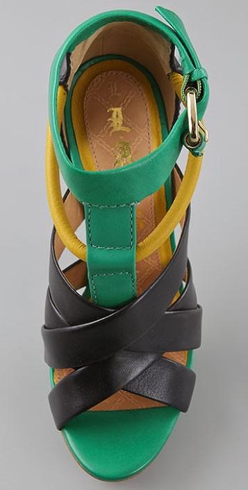 L.A.M.B. Justice Platform Sandals