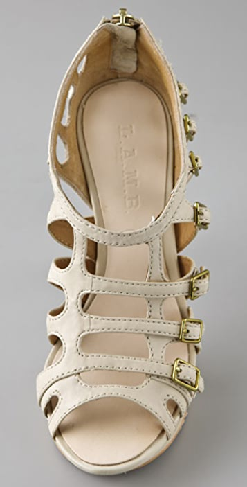 L.A.M.B. Devin Caged Sandals