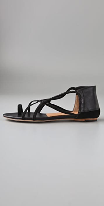 L.A.M.B. Quint Elastic Flat Sandals