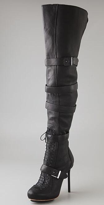 L.A.M.B. Glamette Thigh High Boots