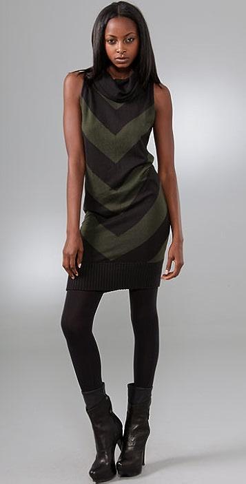 L.A.M.B. Chevron Stripe Dress