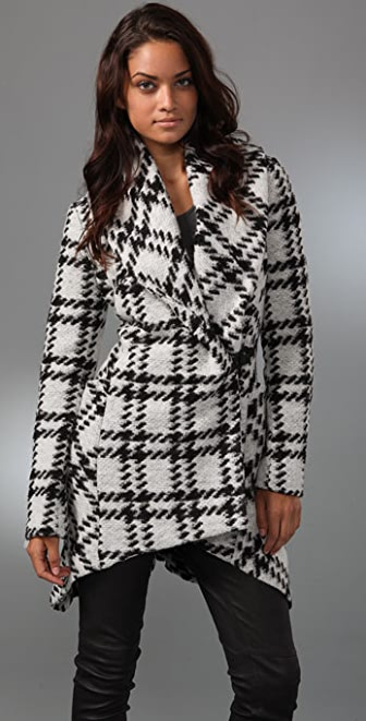 L.A.M.B. Plaid Shawl Collar Jacket
