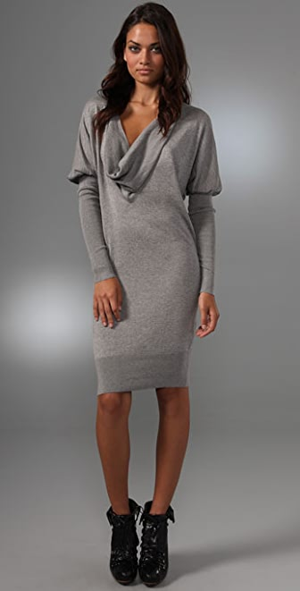 L.A.M.B. Cowl Neck Sweater Dress
