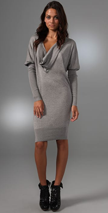 L.A.M.B. Cowl Neck Sweater Dress