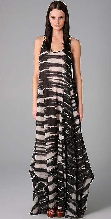 L.A.M.B. Print Long Dress