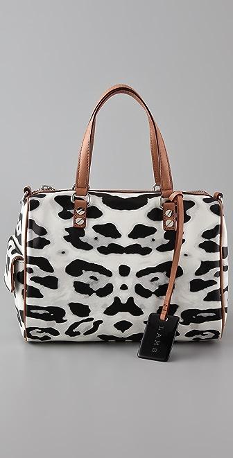 L.A.M.B. Snow Leopard Chapelton Bag