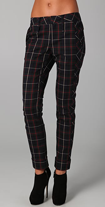 L A M B Plaid Skinny Pants Shopbop