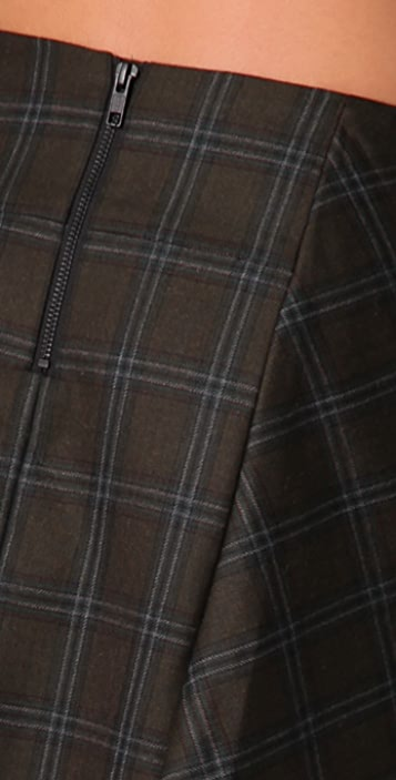 L.A.M.B. Short Plaid Kilt Skirt