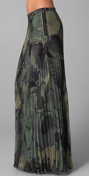L.A.M.B. Long Print Pleated Skirt