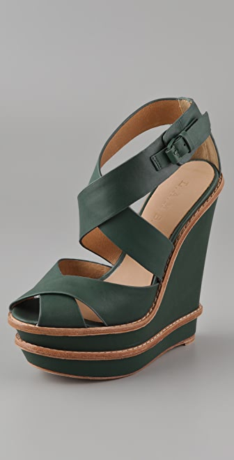 L.A.M.B. Angela Double Wedge Sandals