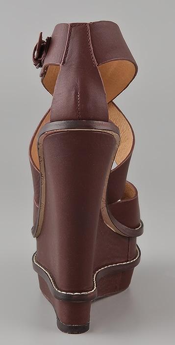 L.A.M.B. Angela Double Wedge Sandals