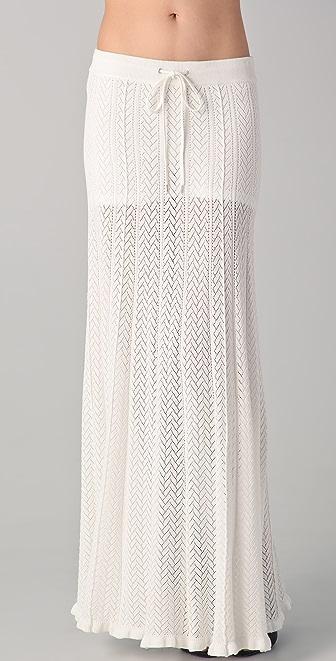 L.A.M.B. Long Pointelle Skirt