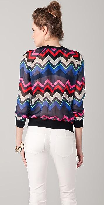 L.A.M.B. Bold Zigzag Silk Top