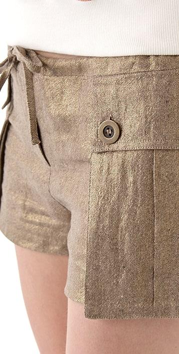 L.A.M.B. Metallic Cargo Shorts