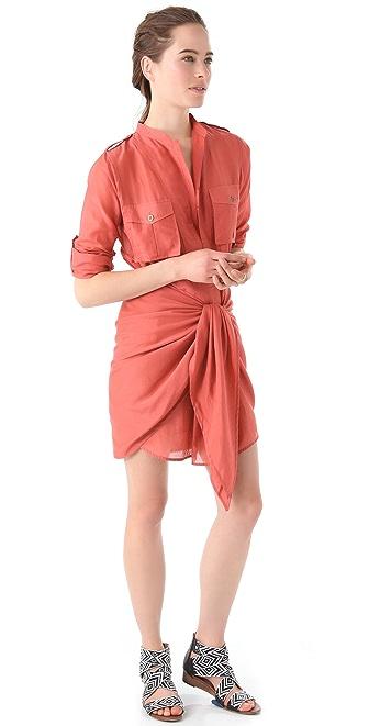 L.A.M.B. Tie Front Dress