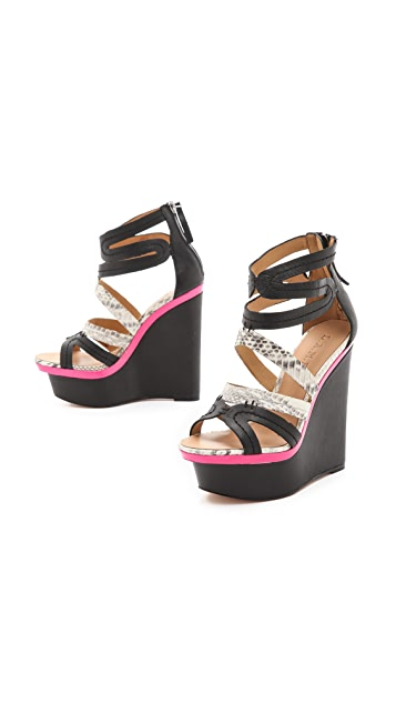 L.A.M.B. Jenelle Wedge Sandals