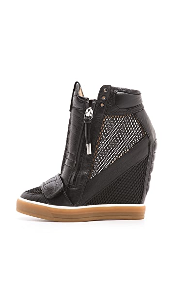 L.A.M.B. Pamela Mesh Wedge Sneakers