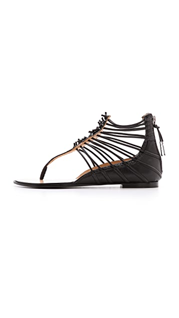 L.A.M.B. Reagon Strappy Flat Sandals