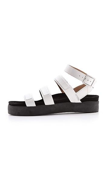 L.A.M.B. Rose Flat Sandals