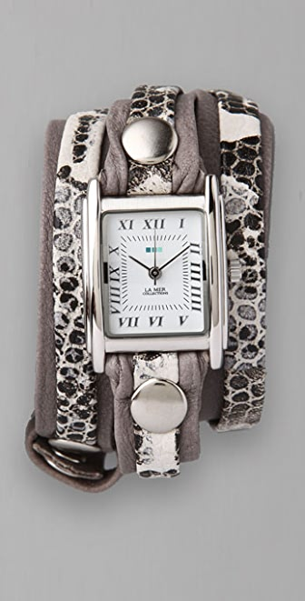 La Mer Collections Layer Square Wrap Watch