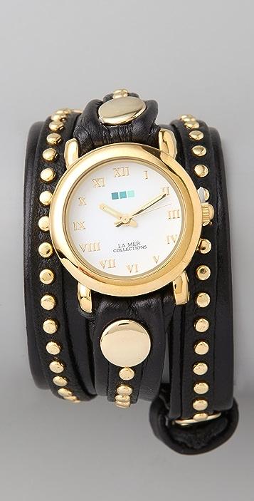 La Mer Collections Bali Stud Wrap Watch