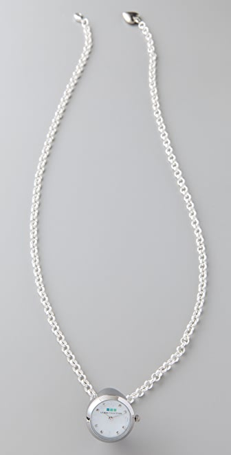 La Mer Collections Silver Ring Watch Necklace