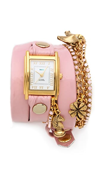 La Mer Collections Crystal Ballerina Charm Watch
