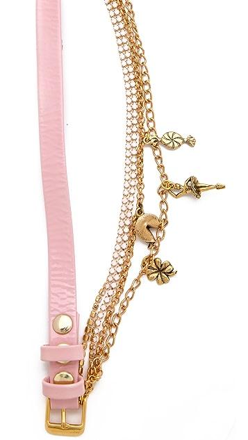La Mer Collections Crystal Ballerina Charm Watch