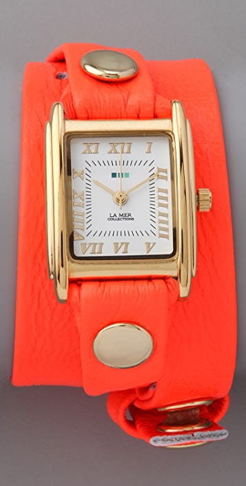 La Mer Collections Neon Simple Wrap Watch
