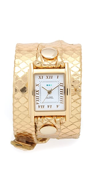 La Mer Collections Snake Simple Wrap Watch