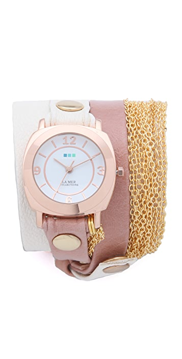 La Mer Collections Joshua Tree Chain Wrap Watch