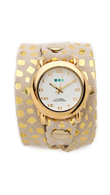 La Mer Collections Limited Edition Print Wrap Watch