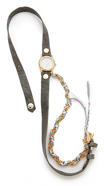 La Mer Collections Friendship Bracelet Watch