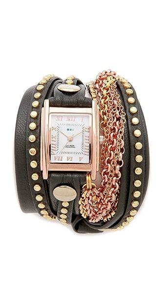 La Mer Collections Roman Crystal Wrap Watch