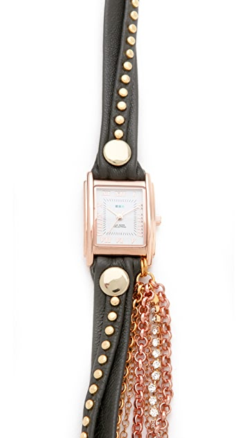 La Mer Collections Roman Crystal Wrap Watch