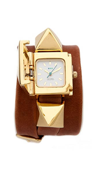 La Mer Collections Cairo Pyramid Wrap Watch