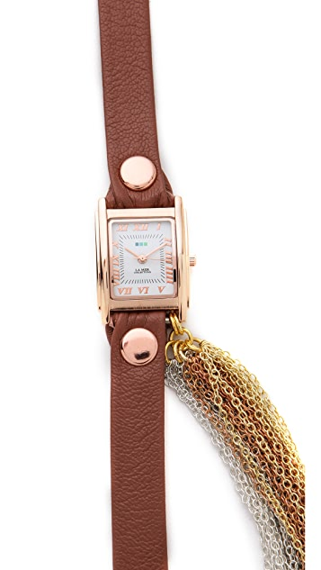La Mer Collections Rainbow Multi Chain Wrap Watch