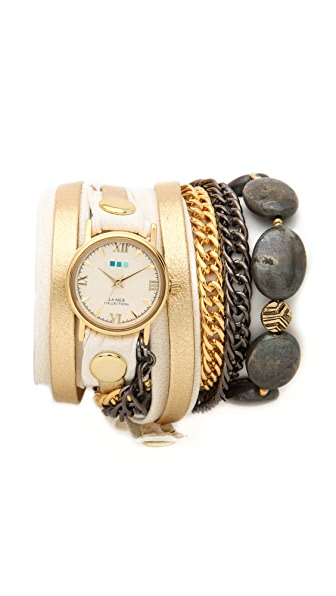 La Mer Collections Kenyan Stones Wrap Watch