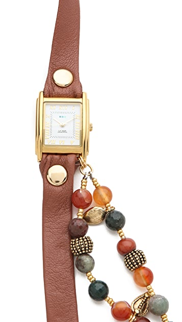 La Mer Collections Thai Charm Wrap Watch