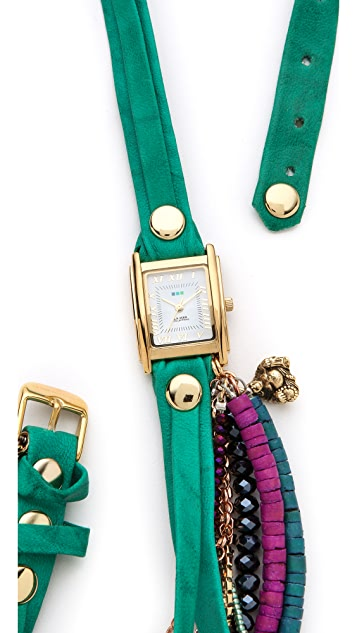 La Mer Collections Copacabana Multi Chain Wrap Watch