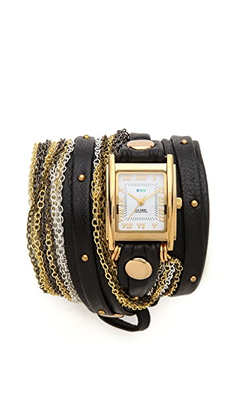 La Mer Collections Venice Stud Wrap Watch