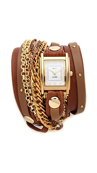 La Mer Collections Arizona Stud Wrap Watch